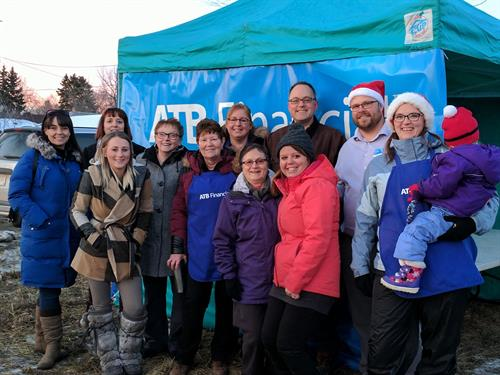 Our team celebrating the CP Holiday Train raising money for the Wetaskiwin Food Bank! (December 2017)