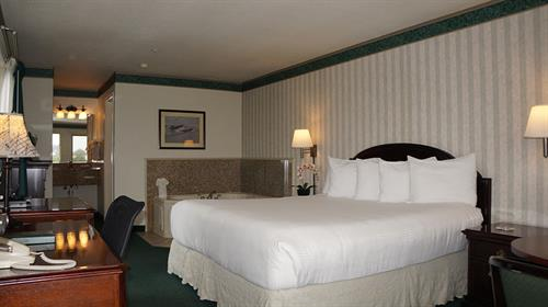 beautifully adorned guest rooms with many amenities such as jacuzzi & fireplaces