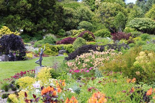 From old favorites to rare species, the Perennial Garden is bursting with blooms spring through autumn and is alive with bees, butterflies, and hummingbirds.
