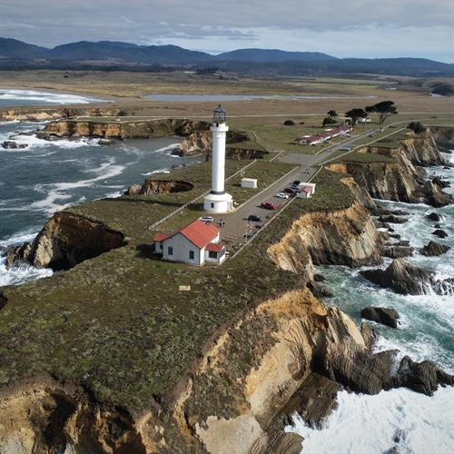 Point Arena Lighthouse & coast