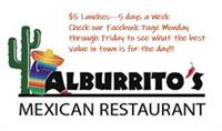 ALBURRITO'S Work Day Lunch Special!