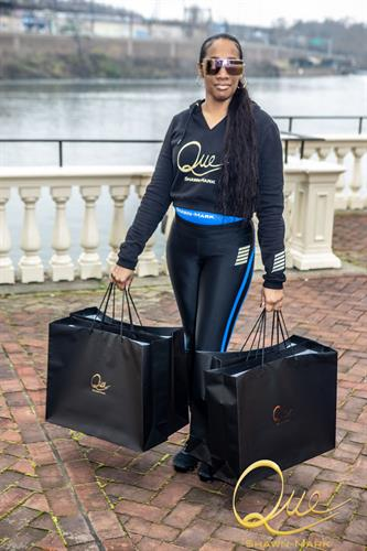 Women's Black Cropped Hoody with Full Sport Set