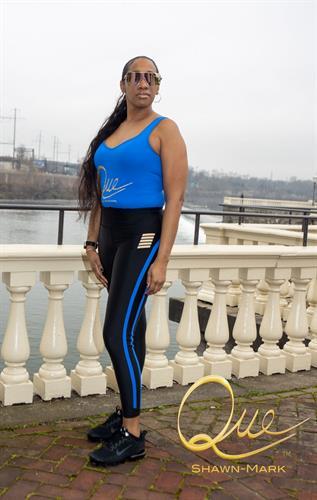 Women's Royal Blue Bodysuit with Matching Legging