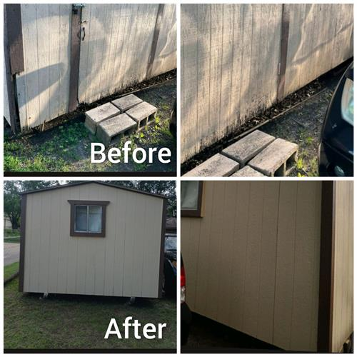 Shed Repair and Painted