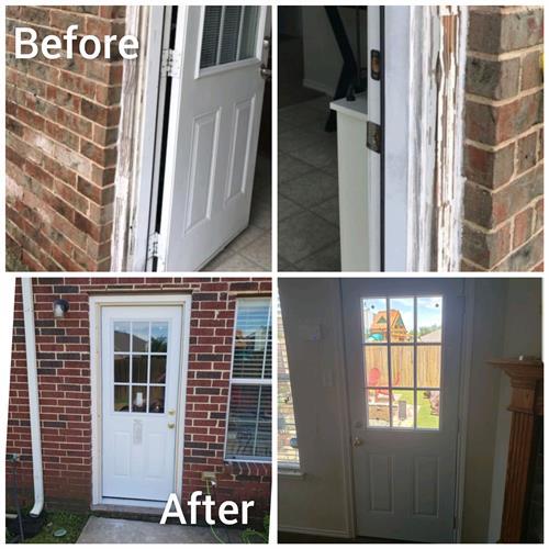 Wood Rot w/New Door