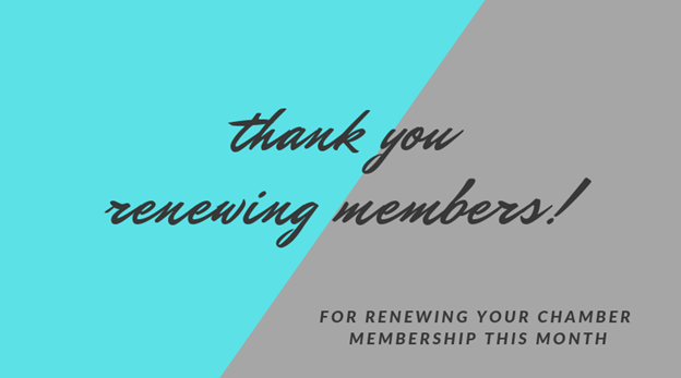 Image for March Renewing Members! Thank You for Your Continued Support of the Chamber!