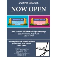 Sherwin-William's Christiana is Now Open!