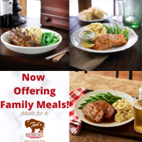Ted's Montana Grill is now offering Family Meals!