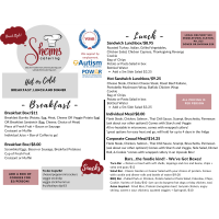 Sherm's Catering Offres Hot or Cold Breakfast, Lunch and Dinner