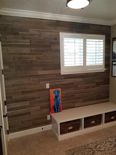Pallet Wood Wall - Happy Client!