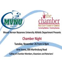 CHAMBER:  Chamber Night at MVNU Athletics Basketball Games