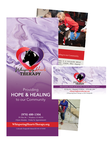 BROCHURE & BUSINESS CARD (WHISPERING HEARTS THERAPY)