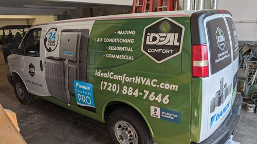 We can wrap your vehicle! Ask us about reflective vinyl for 24/7 marketing!!