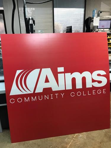 Backlit Sign for Aims