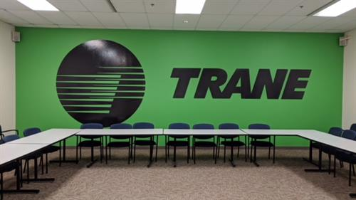 Wall graphics for Trane