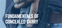Fundamentals of Concealed Carry
