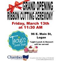2020 Grand Opening/Ribbon Cutting Ceremony- Tacie's Sweet Treats