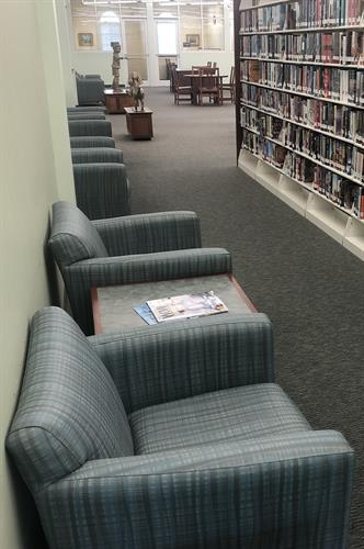 Our oversize chairs provide the provide location to enjoy a good book.