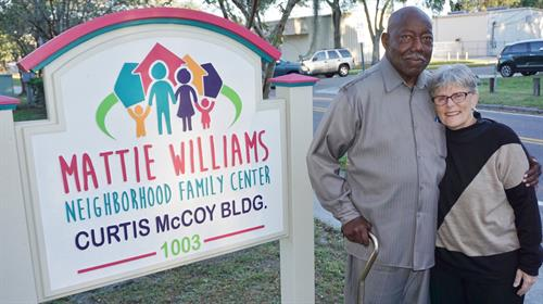Building dedication to founding board member Curtis McCoy