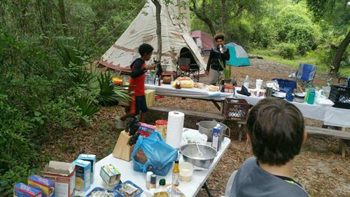 Rotary's Boys Mentor Group camping