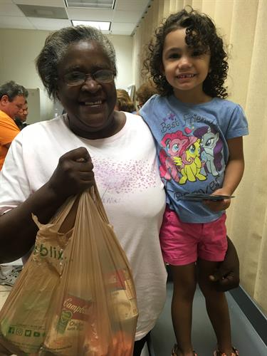 Food pantry handing out emergency food during Hurricane Irma