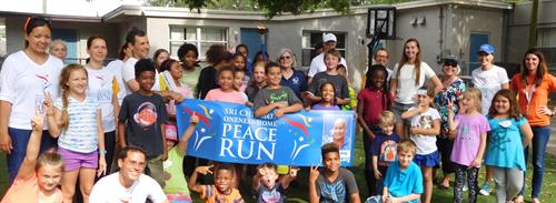 Peace Run stop