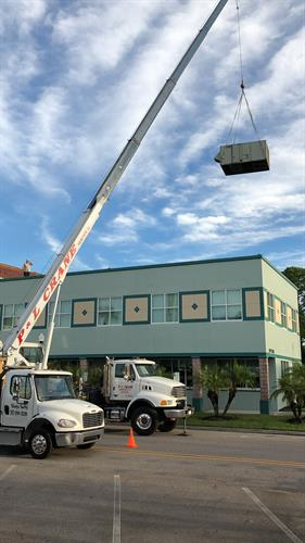 Installing New Rooftop Package Unit at City Hall