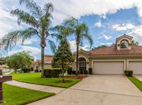 Palm Harbor villa on a lake with an active adult community