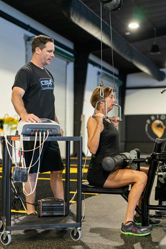 This is Jason using the NeuFit with a client who has had chronic back pain.