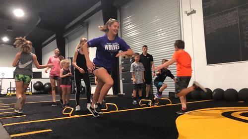 Local sports team training