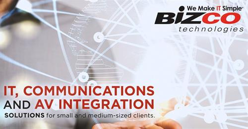 Bizco Technologies is an integrator of IT, communications and AV solutions for small and medium-sized businesses and education clients. Learn how we can help you achieve your technological goals.