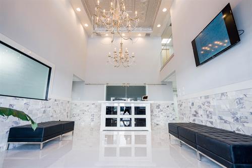 Posh Executive Center Lobby, Full Service Office Space
