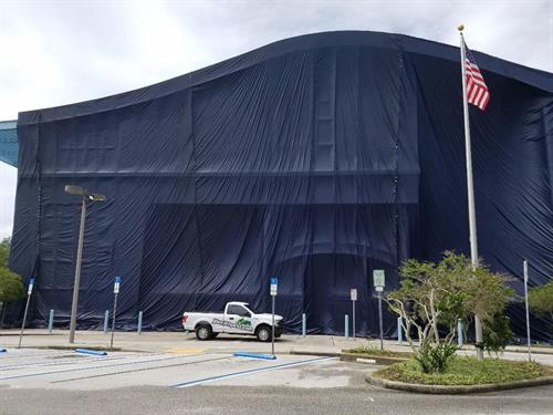 Clearwater Main Library Tent Fumigation