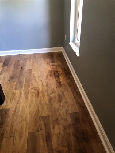After: Water Damage - restored wood floors