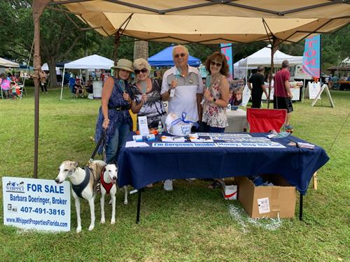 Oldsmar Days & Nights Booth with Whippets