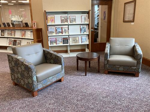 Crawfordsville Public Library Lounge.