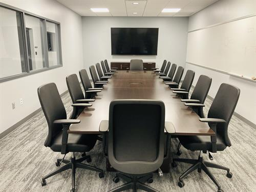 Conference room designed with AIS furniture.