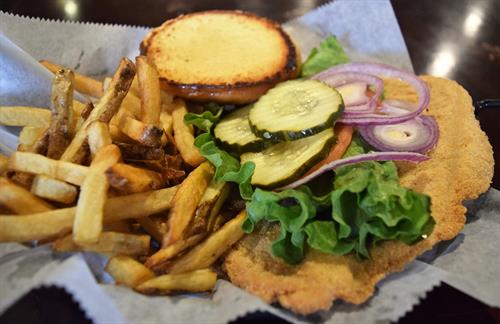 Our handbreaded Tenderloin, Tuesday's dinner special.