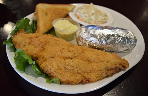 Handbreaded Catfish Fillets, available on Friday and Saturday nights.