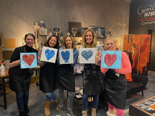 Tiny Canvas painting party