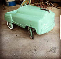Pedal car that we painted
