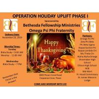 Operation Holiday Uplift Phase 1