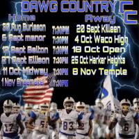 CCISD High School Football Schedule