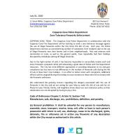City of Copperas Cove Fourth of July Ordinance