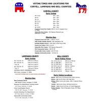 Early Voting Times & Locations
