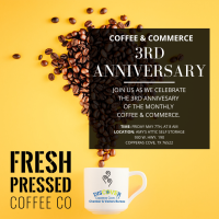3rd Anniversary Coffee & Commerce - Amy's Attic