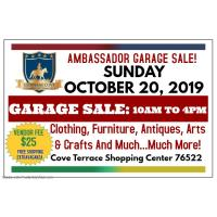 Ambassador Garage Sale