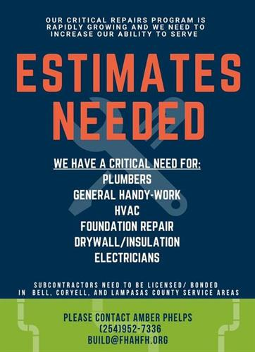 Looking for Contractors