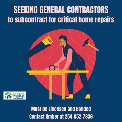 Seeking Contractors