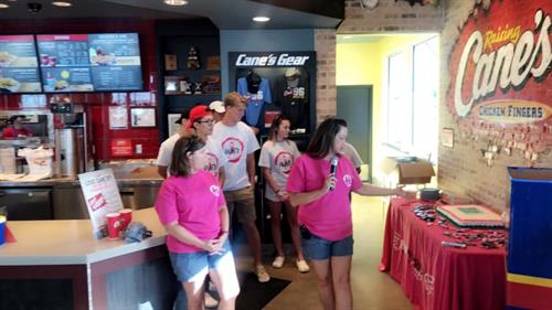 CCHS DECA Volunteering for the Central Texas Pink Warrior Angels Fundraiser for Connors Scholarship